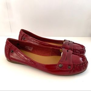 Nicole Red Patent Leather Loafer Flats Size 8.5M
